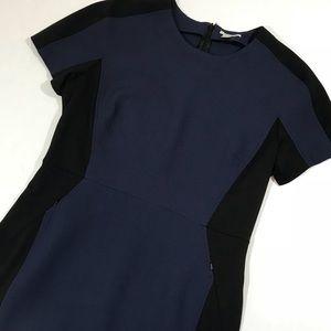 Halogen Navy and black 2 pocket sheath dress